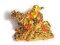 Хотей на черепахе драконе золотой (34 см)