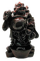 Хотей стоящий на чашах богатства каменная крошка (39 см)