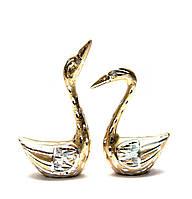 Статуэтки Лебеди пара  из алюминия