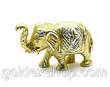Статуэтка Слон резной алюминий (19*10,5*6 см)