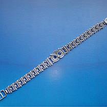 Серебряный женский браслет Сова с фианитами, 190мм, фото 3
