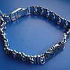 Серебряный женский браслет Сова с фианитами, 195мм, фото 2