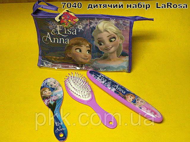 7040  детский набор ( зеркало+расч.+туба д/зубной щетки)  LaRosa