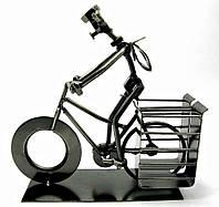 "Техно-арт подставка под ручки ""Велосипедист"" металл (19х21х7,5 см)"