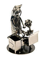 """Техно-арт подставка под ручки """"Врач"""" металл (17,5х12х12 см)"""