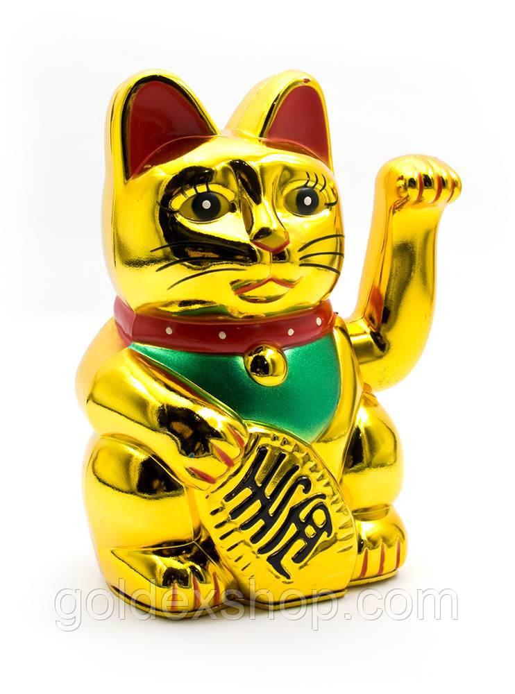 Кошка Манэки-нэко машущая лапой (14,5х9,5х9 см) (батарейки в комплект не входят)
