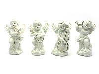 Ангелы фарфор (н-р 4 шт) (11,5х7х4,5 см)