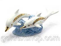 Дельфины пара фарфор (19х7,5х7см)