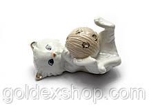 Котенок с клубком фарфор (9,5х6х5,5 см)