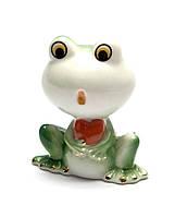 Лягушка с сердечком фарфор (6,5х4х5,5 см)