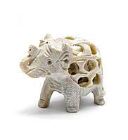 Слон из мыльного камня резной (5х6х3 см)