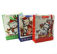 """Пакет подарочный """"Новый год""""картон (32х26 см)"""