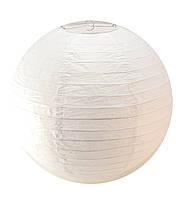 Фонарь белый бумажный (d-40 см)
