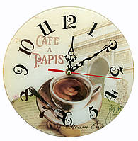 """Часы настенные """"Кофе"""" (d-25 см) (тихий ход)"""
