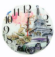 """Годинники настінні """"Париж"""" (d-30 см) (тихий хід)"""