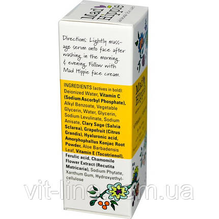 Mad Hippie Skin Care Products, Сыворотка витамина С, 8 активных веществ, 1,02 жидких унции (30 мл), фото 2