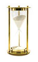 Часы песочные бронза (14,5х7,5х7,5 см) (Brass Sandtimer 5Min)
