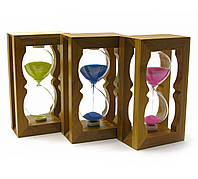 Часы песочные в бамбуке (18х8,5х5 см)