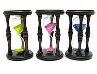 Часы песочные в дереве (16.5х11х11 см)