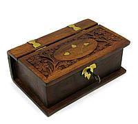 "Шкатулка розовое дерево ""Книга"" (15х10х4,4 см) (6"" Х 4"")"