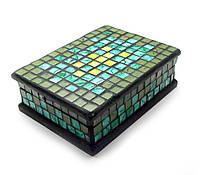 Шкатулка для украшений мозаичная (18х13х5,5 см)