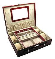 Шкатулка для украшений с зеркальцем (32,5х26х9 см)