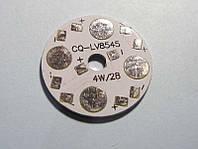 Подложка 4х1Вт светодиодов  схема 4х1 алюм. диск 28x1,4мм