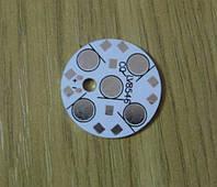 Подложка 5х1Вт светодиодов белая алюм. диск 28x1,4мм