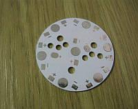 Подложка 7х1Вт светодиодов белая, алюм. диск 47x1,2мм