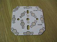 Подложка 12х1Вт светодиодов алюм. квадрат 64х64x1мм