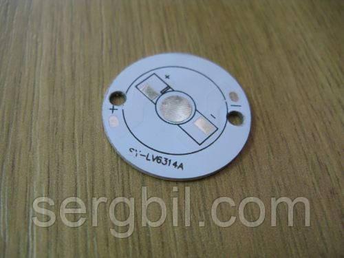 Подложка-радиатор 1х0,75Вт светодиода алюм. диск  30мм