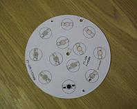 Подложка-радиатор  12х1Вт светодиодов алюм. диск 135мм