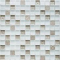 Мозаика мрамор стекло Vivacer DAF21