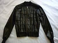 Кожаная куртка женская, размер 44, кожа натуральная (Италия)
