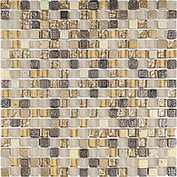 Мозаика мрамор стекло Vivacer DAF22