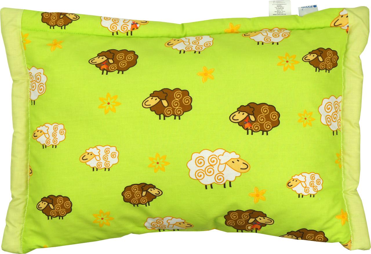 Детская подушка цветная 40х60 из овечьей шерсти