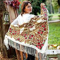 Павлопосадский платок (120х120см + бахрома)