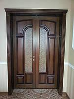 Двери деревянные межкомнатные двухстворчатые, колекция классика, модель АРКА.