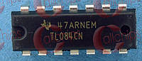 4-х канальный операционный усилитель TI TL084CN DIP14