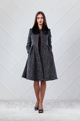 Пальто накладний комір + муфта шерсть