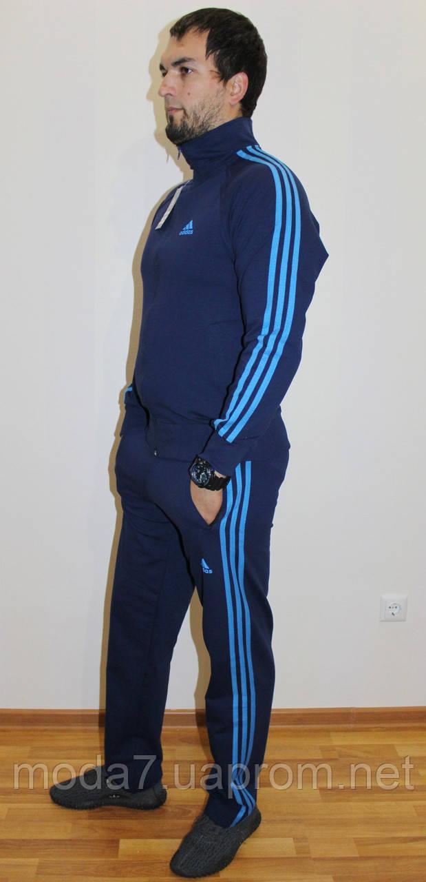 Мужской спортивный костюм Adidas синий Турция реплика