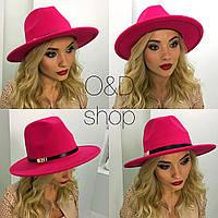 Женская стильная фетровая шляпа с декором (5 цветов), фото 1