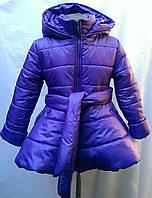 Детское пальто  на синтепоне., фото 1