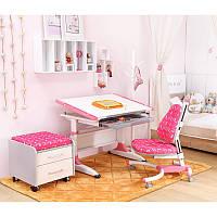 Парта-трансформер KidsMaster K1-Durer Desk с ящиком для канцелярии Pink, фото 1
