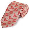 Современный мужской широкий галстук SCHONAU & HOUCKEN (ШЕНАУ & ХОЙКЕН) FAREPS-05 красный
