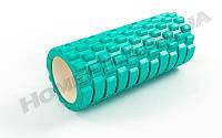 Массажный роллер, валик, ролик Grid Roller 14см*33,5 см  Мятный