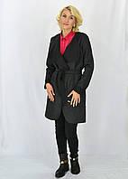 Черное кардиган-пальто чёрный Мишель