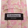 Сучасний чоловічий широкий галстук SCHONAU & HOUCKEN (ШЕНАУ & ХОЙКЕН) FAREPS-06 рожевий, фото 3