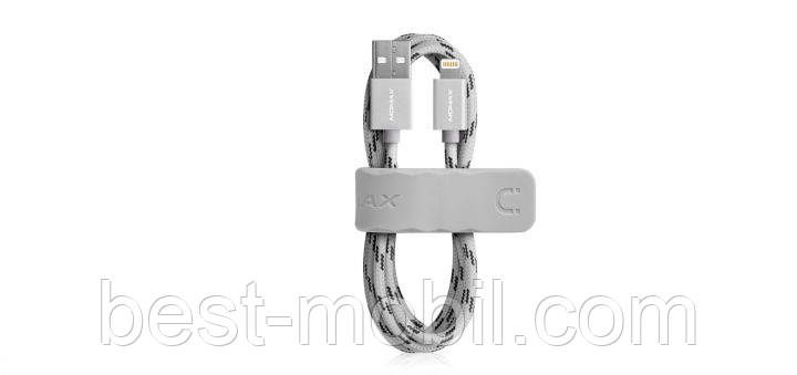 Elite Link USB Cable for Apple Lightning 2 m, silver (DL3S) Momax