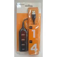 USB-Hub на 4 порта черный